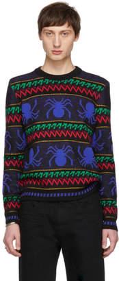 Saint Laurent Multicolor Rayures Araignees Sweater
