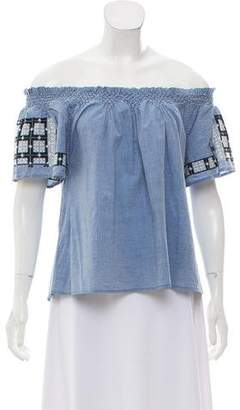 Ulla Johnson Embroidered Off-The-Shoulder Top