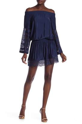 Ramy Brook Lynsey Off-the-Shoulder Lace Panel Dress