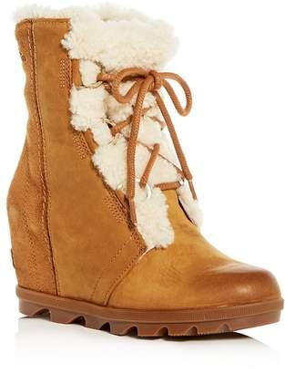Sorel Women's Joan of Arctic Waterproof Shearling Hidden Wedge Cold-Weather Boots