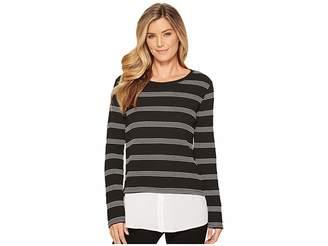 Calvin Klein Texture Stripe Twofer Women's Clothing
