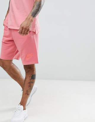 Nike Washed Jersey Shorts In Pink 893295-823