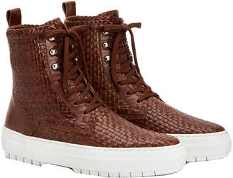 Aquatalia Tess Waterproof Leather Sneaker