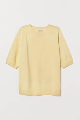 H&M Short-sleeved Cashmere Sweater