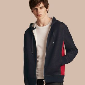 Burberry Two-tone Jersey Hooded Top $595 thestylecure.com