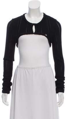 Chanel Lightweight Cropped Knit Cardigan Black Lightweight Cropped Knit Cardigan