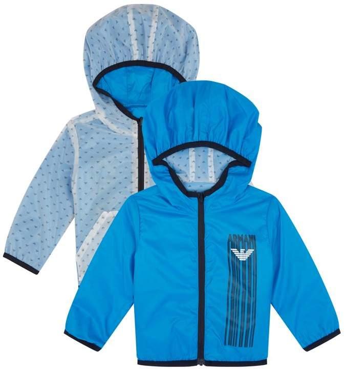 Reversible Logo Print Hooded Jacket