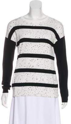 Tibi Long Sleeve Scoop Neck Sweater