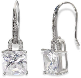 JCPenney SILVER ENCHANTMENT Silver Enchantment Cushion-Cut Cubic Zirconia Sterling Silver Drop Earrings
