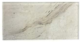 Abolos SAMPLE Nature Wall Backsplash Straight Edge Glass Subway Tile in Beige/Creme