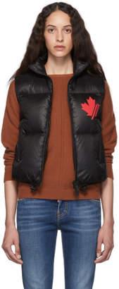 DSQUARED2 Black Nylon Logo Puffer Vest
