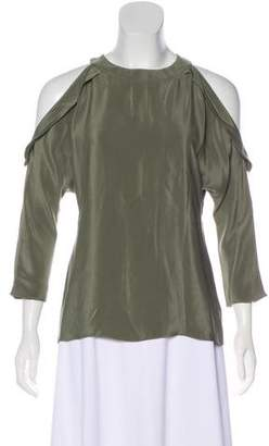 Ramy Brook Silk Cold Shoulder Blouse