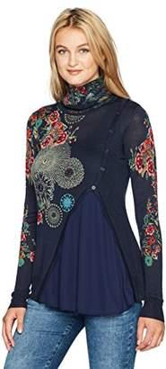 Desigual Women's Chantale Woman Flat Knitted Thin Gauge Pullover