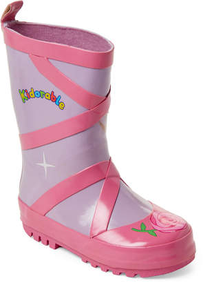 Kidorable Toddler/Kids Girls) Pink & Purple Ballet Rain Boots