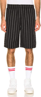 Alexander Wang Logo Jaqcuard Shorts in Black   FWRD