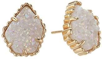 Kendra Scott Women's Tessa Earring Rose Gold/Iridescent Drusy Earring