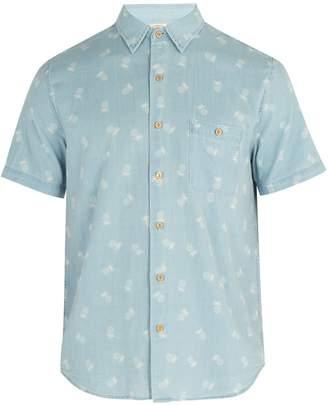 Faherty Coast pineapple-print shirt