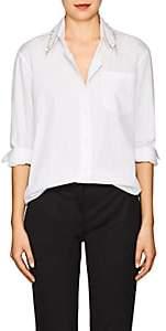 Prada Women's Embellished Cotton Poplin Blouse - White