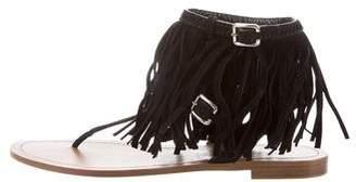 Prada Fringe Thong Sandals