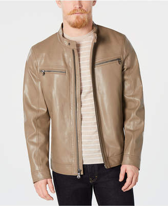 Calvin Klein Men Faux Leather Jacket