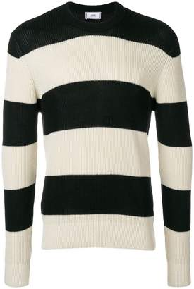 Ami Alexandre Mattiussi Striped crewneck sweater