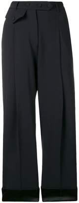 Maison Flaneur pleated wide leg trousers