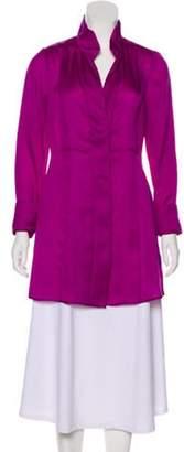 Donna Karan Silk Long Sleeve Tunics Magenta Silk Long Sleeve Tunics