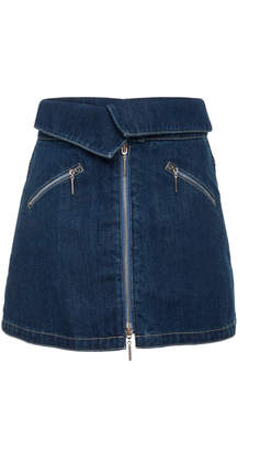 Adam Selman Foldover Mini Skirt