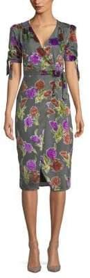 Saylor Harris Floral-Print Wrap Dress