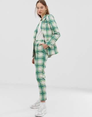 Asos Design DESIGN slim suit pants in printed check