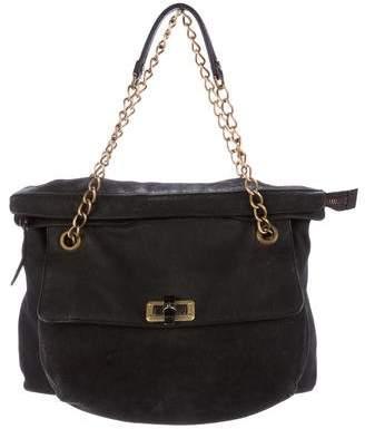 Lanvin Happy Fold-Over Shoulder Bag