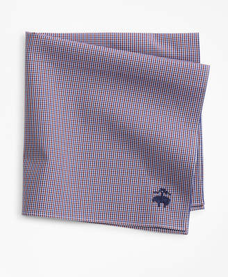 Brooks Brothers Two-Tone Gingham Pocket Square