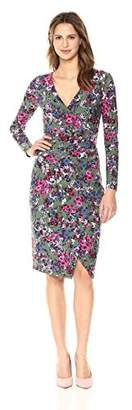 Rachel Roy Women's Longsleeve Floral Printed Tie Waist Dress