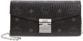 MCM Large Patricia Visetos Canvas Wallet on a Chain
