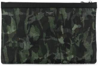 Dolce & Gabbana camouflage print clutch