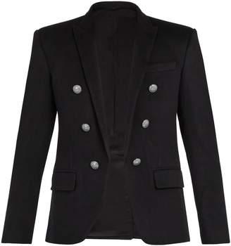 Balmain Double-breasted cashmere blazer