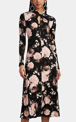 Erdem Women's Nolene Floral Jersey Midi-Dress - Black Multi