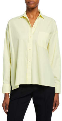 Vince Button-Down Long-Sleeve Boxy Shirt