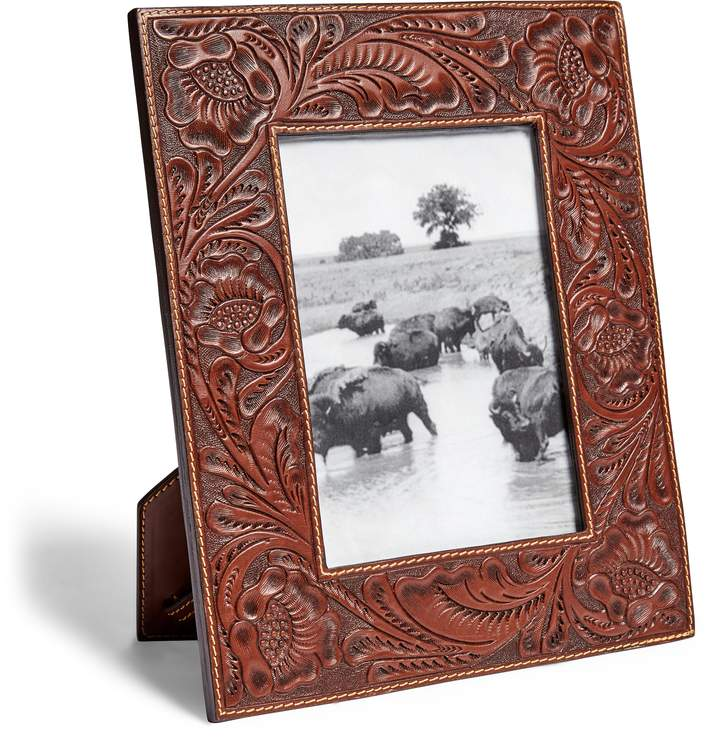 Ralph Lauren Hand-Tooled Leather Frame