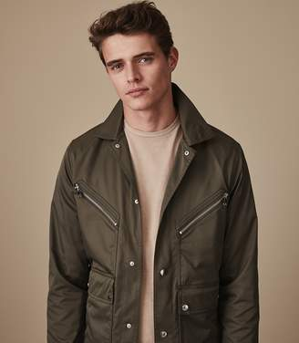 Reiss HEXHAM Button through casual jacket Mushroom