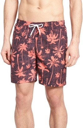 Men's Trunks Surf & Swim Co. San O Charles Palm Tree Swim Trunks $54 thestylecure.com