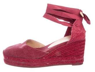 Castaner Canvas Espadrille Wedges