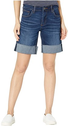 KUT from the Kloth Catherine Wide Row Bermuda Shorts in Salubrious w/ Euro Base Wash