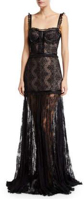 Alexis Kieran Lace Bustier Cocktail Dress