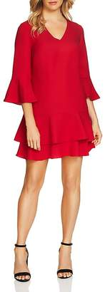 Cynthia Steffe CeCe by Katelyn Three-Quarter Sleeve Ruffle Dress