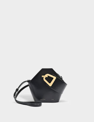 Lente Danse Mini Johnny Bag in Black Italian Calfskin