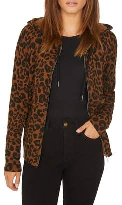 Sanctuary Zip Me Up Leopard Hoodie