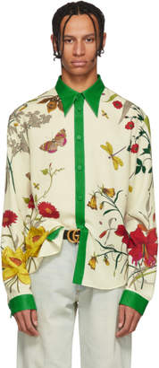 Gucci Multicolor Floral Shamrock Shirt