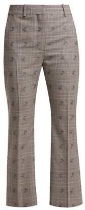 Altuzarra Adler Wool Blend Flared Trousers - Womens - Black