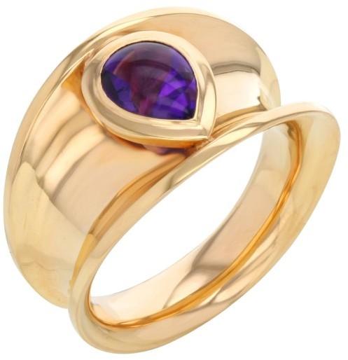 ChopardChopard 18K Rose Gold & Amethyst Ring Sz 7